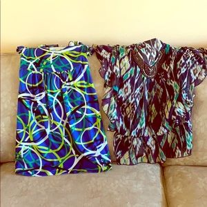 Lot of Two Large 11/12 Blouses
